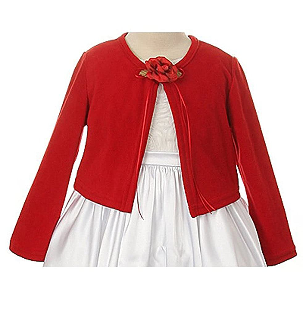 iGirlDress Little Girls Basic Knit Cardigan Jacket Sweater 2-12
