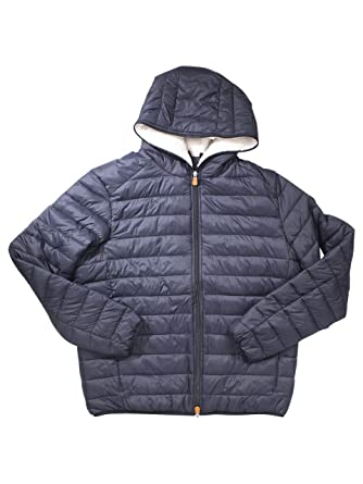 262af86d2a035f Save The Duck Mens Basic Hooded Jacket (Sherpa Lined) at Amazon ...