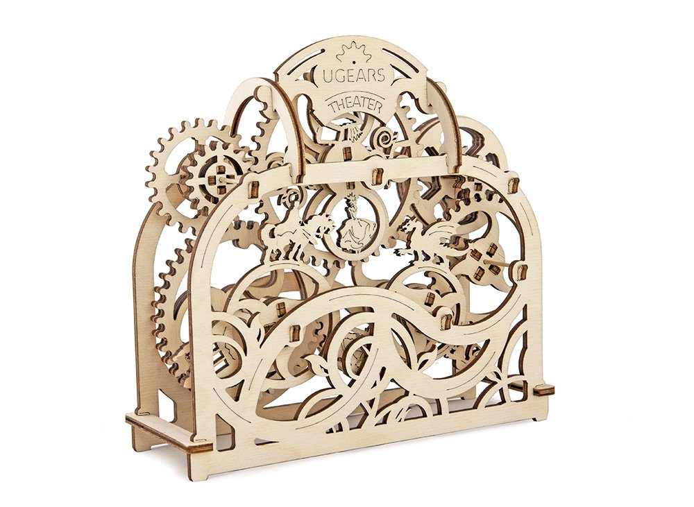 Ugears Theater Mechanical 3D Puzzle Wooden Construction Set Eco Friendly DIY Craft Kit UG70002