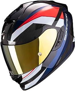 Scorpion Casco integral exo-1400 espirit negro gris de fibra de carbono para scooter moto con visera interna SpeedView solar retr/áctil protecci/ón calota exterior TCT XS