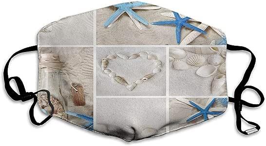 Máscara antipolvo unisex de moda antipolvo, botella de deriva en la playa, reutilizable, lavable al aire libre, máscara antipolvo para hombres y mujeres: Amazon.es: Bricolaje y herramientas