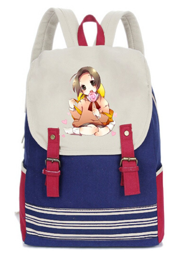 1a3df10d46c0 hot sale Siawasey Axis Powers Hetalia Anime Cosplay Canvas Backpack ...