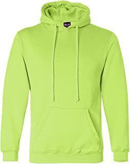 product image for Bayside Mens Hooded Blended Pullover Fleece (B960) -LIME GREEN -4XL