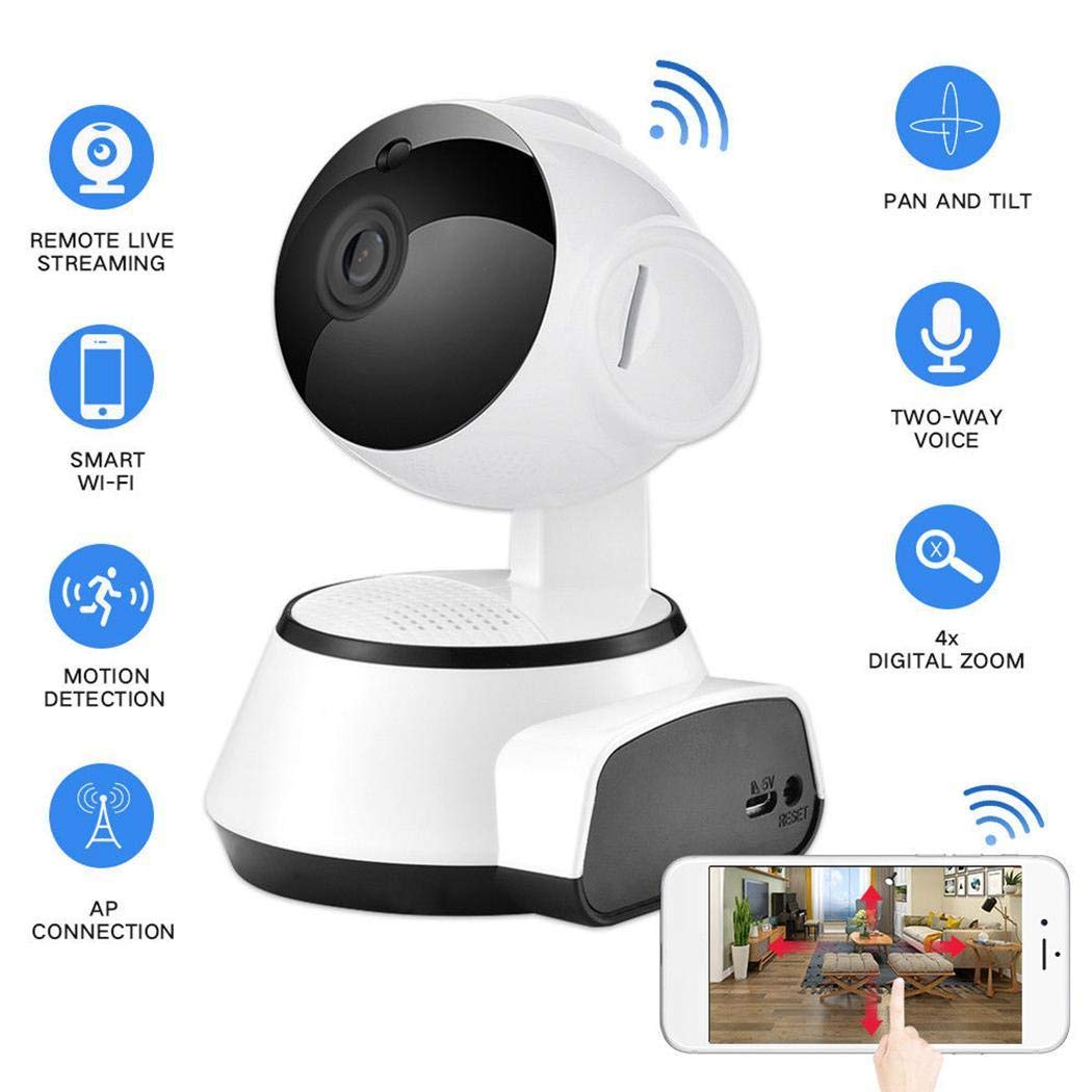Oguine HD 720p Wireless IP Camera, Home Smart Security Surveillance Camera with Night Vision/Two-Way Audio/Motion Detection for Baby/Elder/Pet Monitoring by Oguine