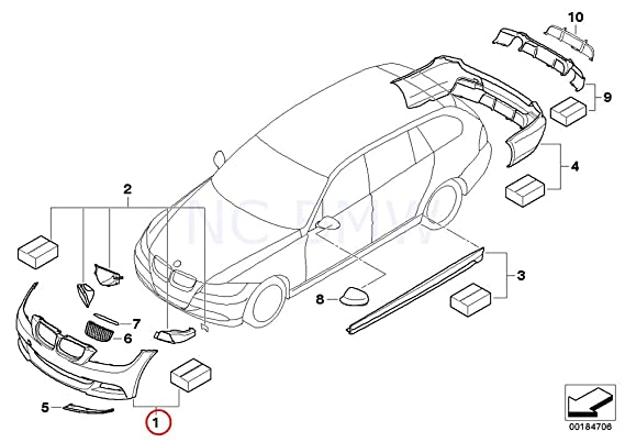 Amazon Com Bmw Genuine Pr Front Bmw Performance Aero Pack Automotive