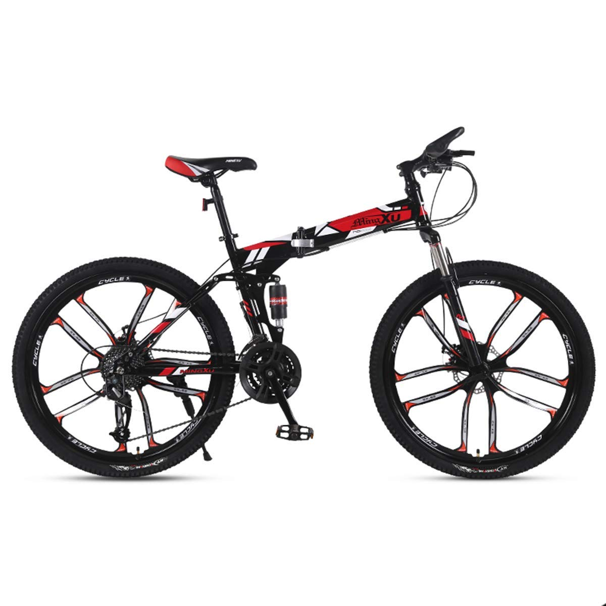 WZB Bicicleta de montaña 21/24/27 Velocidad Marco de Acero 26 ...