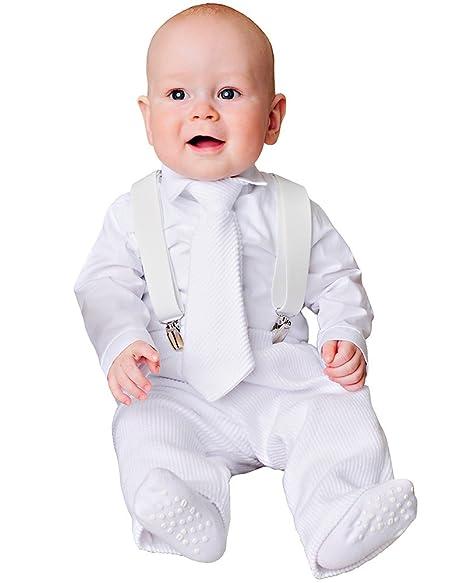 Amazon.com: Payton Suspender bautizo Outfit: Clothing