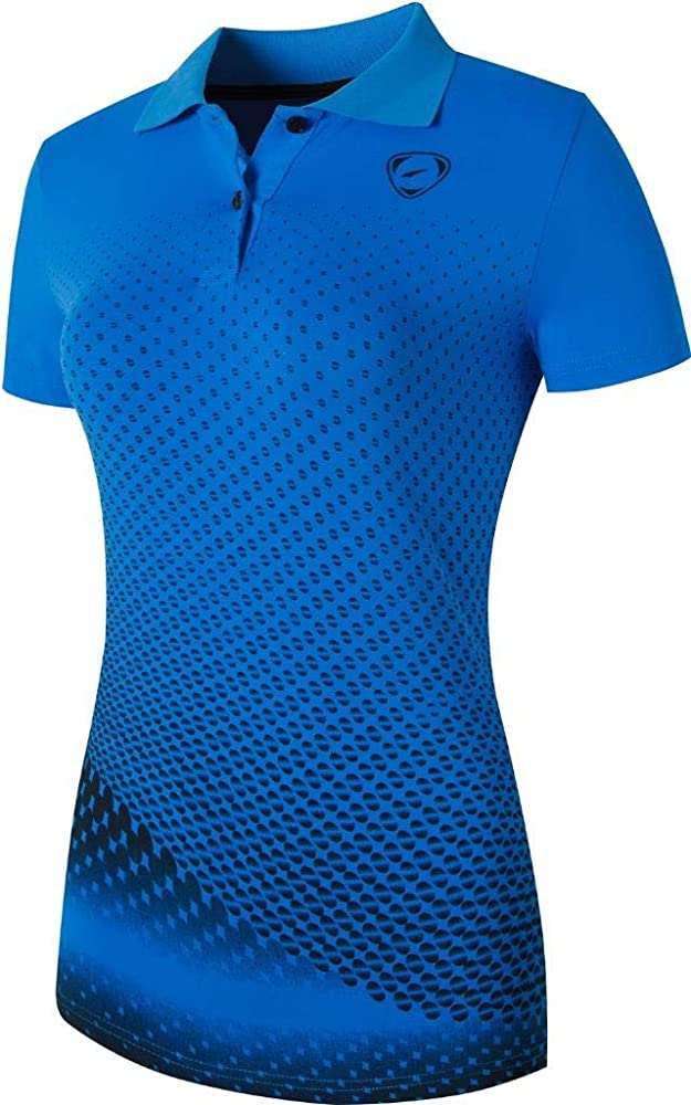 jeansian Mujer Deportes Transpirable Camiseta T-Shirt Slim Polo ...