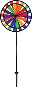 """In the Breeze 2683 13 Inch Wind Colorful Spinner for Your Yard and Garden, 13"""" Double Wheel-Rainbow"""
