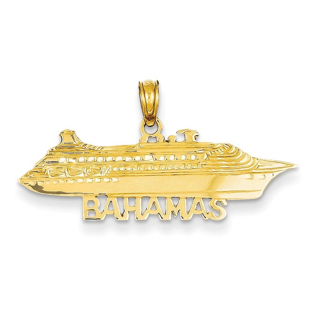 Lex & Lu - Colgante de oro amarillo de 14 K para barco de crucero de las Bahamas: Amazon.es: Joyería