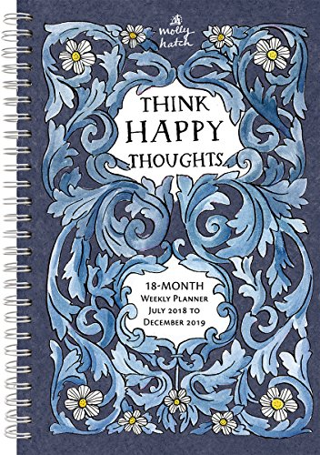 2019 Think Happy Thoughts 18-Month Weekly Planner: by Sellers Publishing - 6 x 9; (CW-0500)