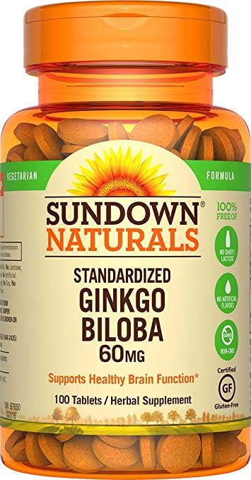 Sundown Naturals® Ginkgo Biloba Standardized Extract 60 mg, 100 Tablets