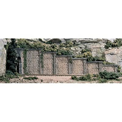 Woodland Scenics HO Retaining Wall, Cut Stone WOOC1259: Toys & Games