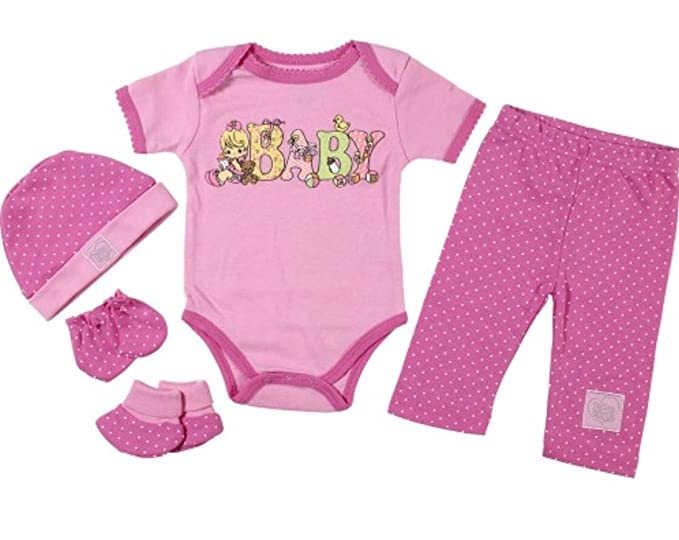 43599e96a851 Amazon.com  Precious Moments Baby Girls Newborn Sweet Baby 5-Piece ...