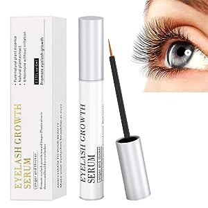 Eyelash Growth Serum, 100% Natural Eyebrow Lash Enhancer Boost Rapid Growth to Longer, Luscious Lashes & Eyebrows Hypoallergenic
