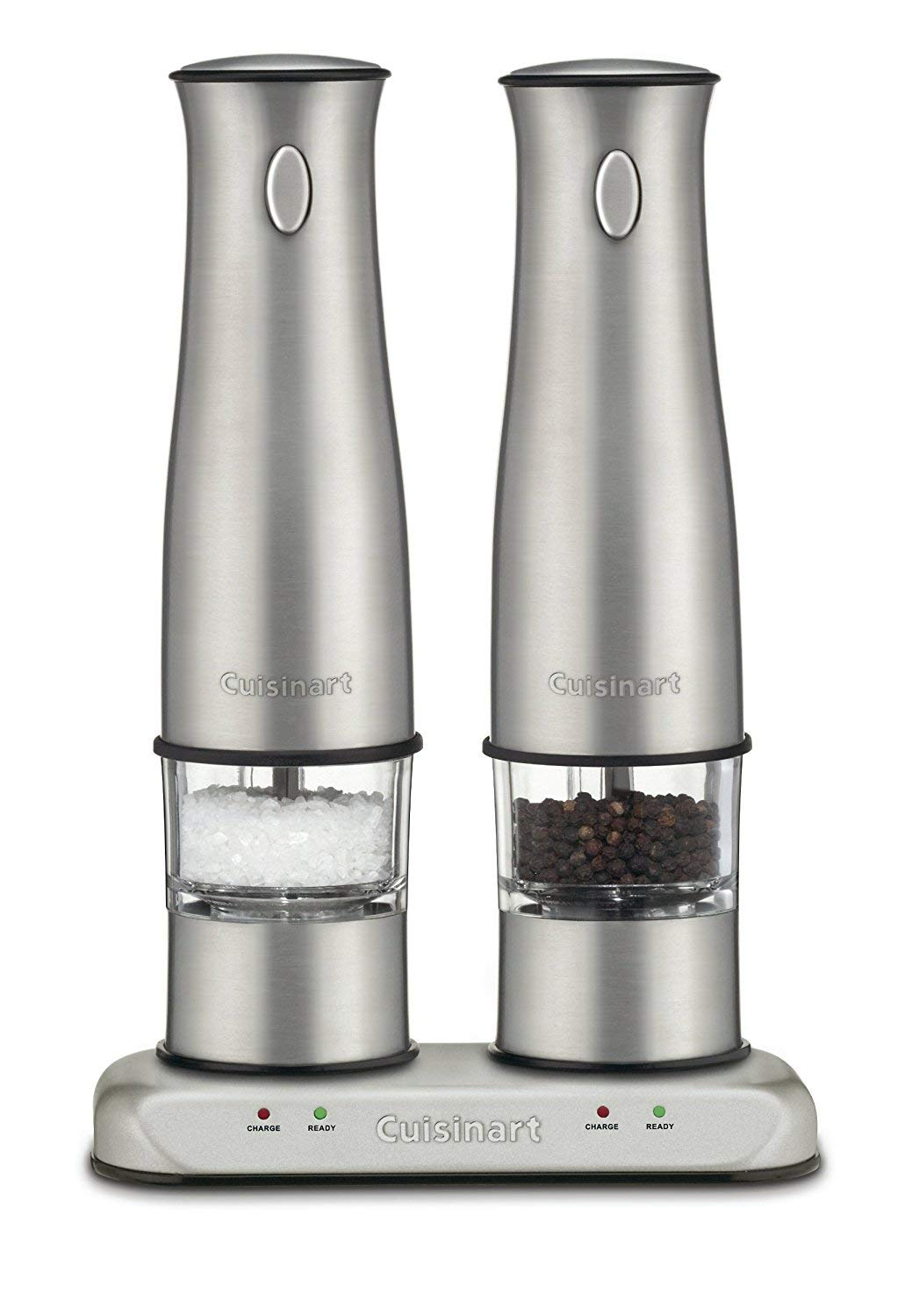 Cuisinart SP-2 Stainless Steel Rechargeable Salt and Pepper Mills (Renewed) by Cuisinart