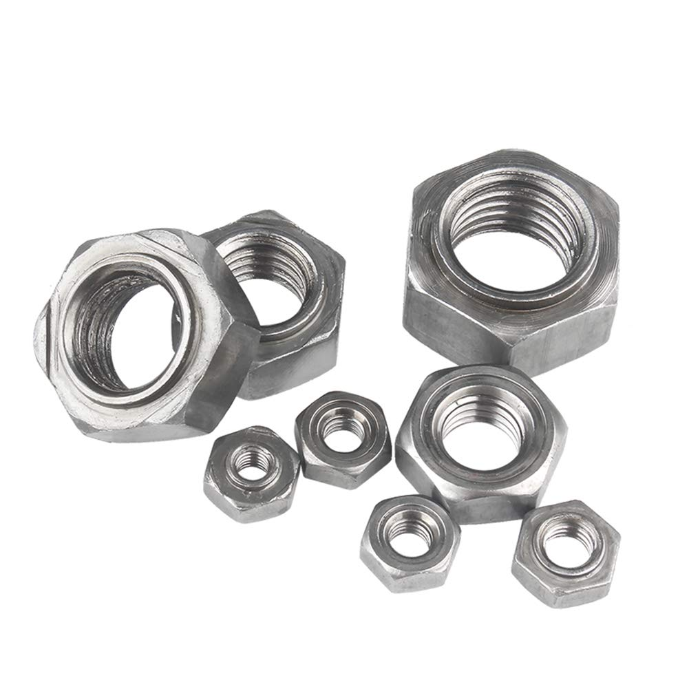 Carbon Steel Hexagon Head Metric Thread Lock Nut Hardware Fasteners Tools M4 M5 M6 M8 M10 M12 M14 M16 Yudesun Hex Weld Nuts
