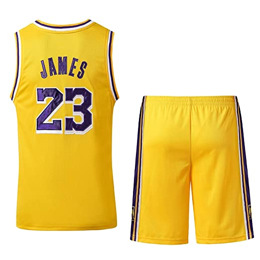 Camisetas de baloncesto NBA Lakers # 23 James uniformes de ...