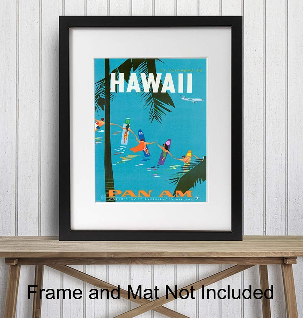 4932.Decoration Quality Poster.FLy to the South Seas.Hawaii Mermaid decor art