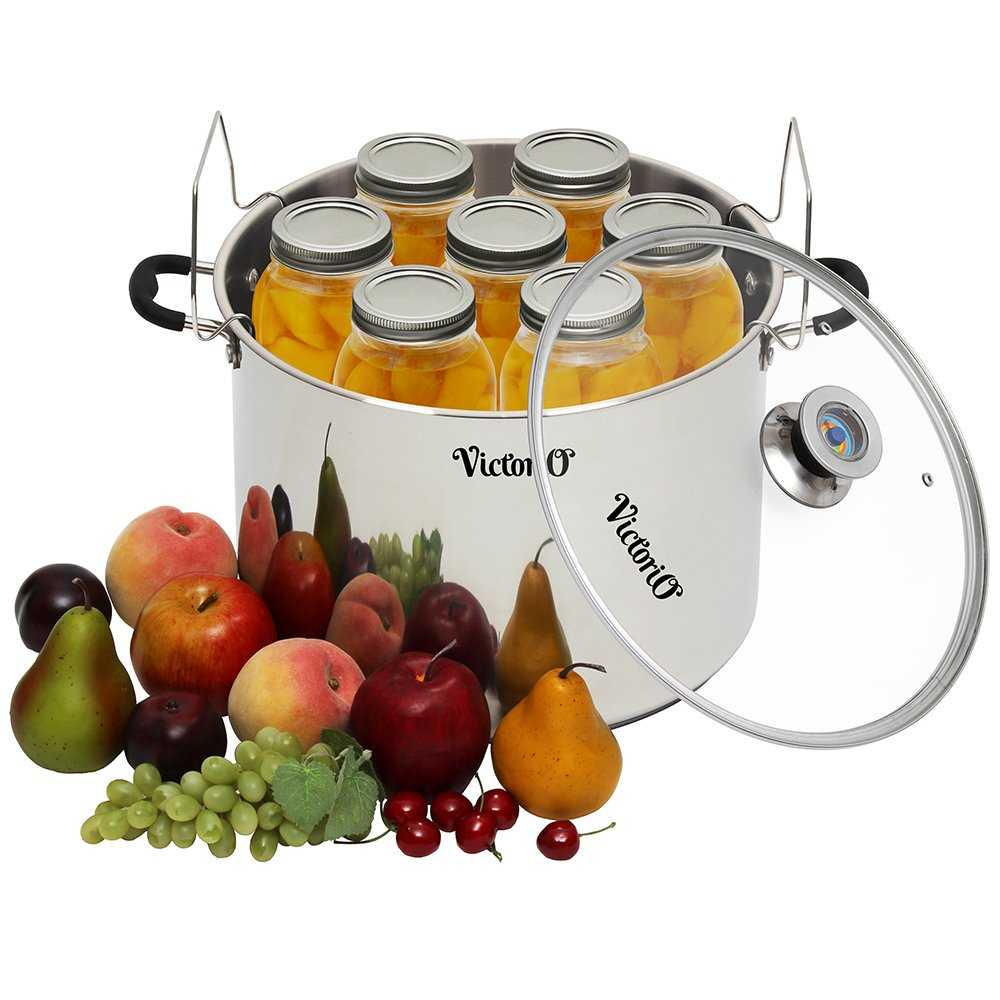 Stainless Steel Multi-Use Canner with Temperature Indicator by VICTORIO