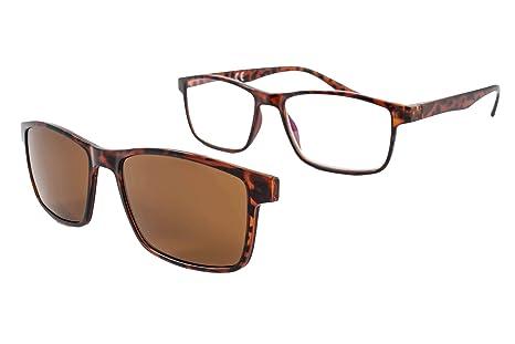PACK 2 Gafas de lectura con imán para sol - Gafas de presbicia - Vista cansada graduadas - Unisex - Mujer - Hombre - 6016 (C1-2, 2.50 Dioptrías)