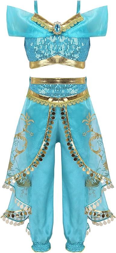 TiaoBug - Disfraz de Princesa árabe para niña y niña, Disfraz para ...