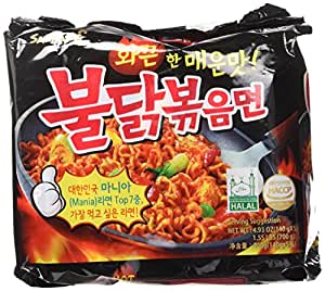 New Samyang Ramen/Spicy Chicken Roasted Noodles, 4.93 oz (Pack of 5)
