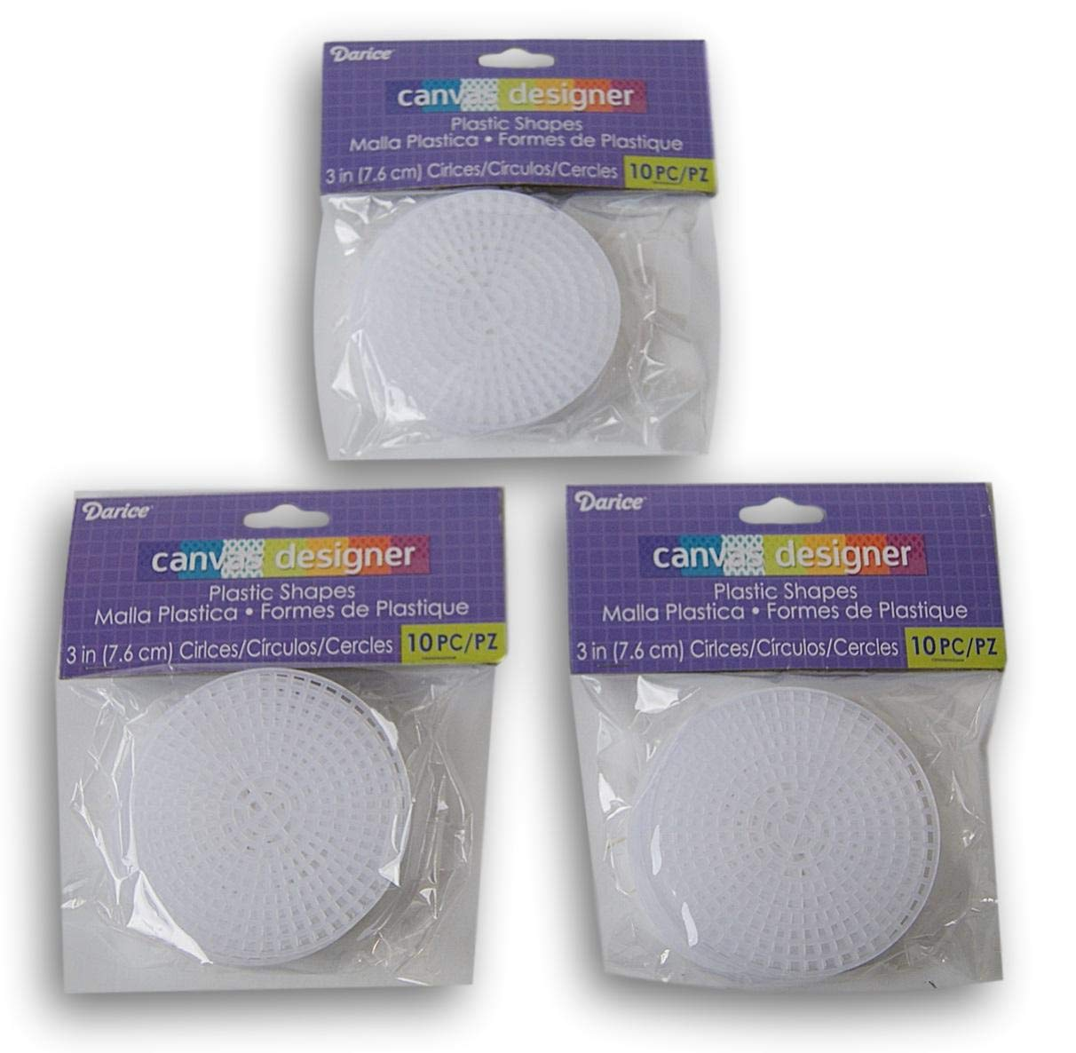 Plastic Canvas #7 Circle - 3 Inches - 30pc Craft Supply