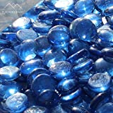 Blue Ridge Brand™ Light Blue Reflective Fire Glass Beads - 50-Pound Professional Grade Fire Pit Glass - 3/4'' Reflective Fire Pit Glass Bulk Contractor Pack