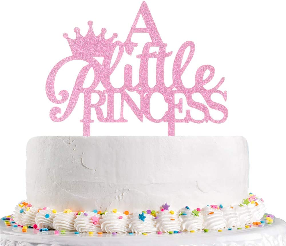 12-Babyshower Princess It/'s A Girl Gender Reveal// Cake Decorations Crown