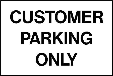 Atención al cliente aparcamiento solo Sign A3 sign color ...