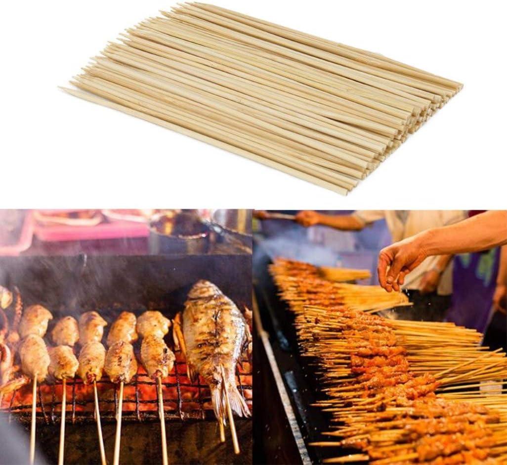 LIANGchueng Lot de 90 Pics /à brochettes en Bambou
