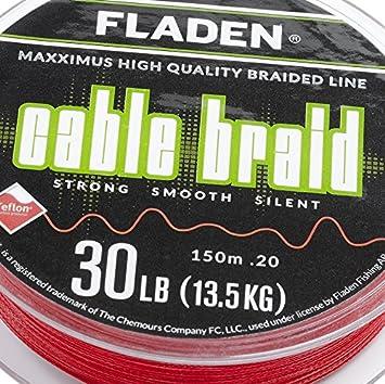 Carrete de pesca Fladen de gran calidad, de 150 m; línea trenzada ...