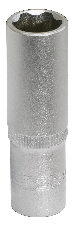 KS TOOLS 911.3833 Douille longue CHROMEmat F6-3//8-13 mm