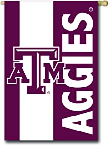 Team Sports America Collegiate Texas A&M Embroidered Logo Applique House Flag, 28 x 44 inches Indoor Outdoor Double Sided Decor for Collegiate Fans