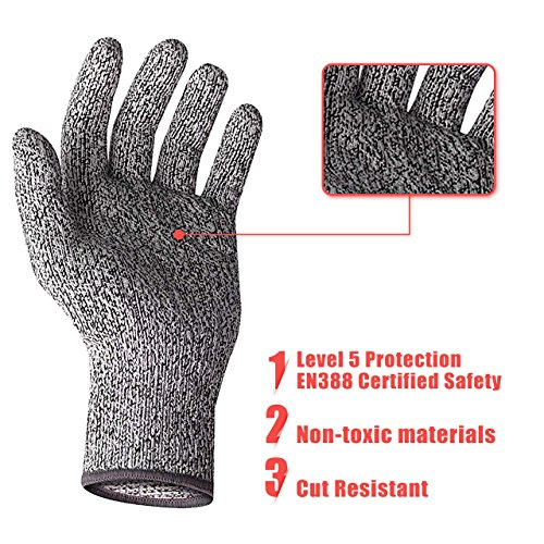 Cut Resistant Gloves Level 5 Protection Cut Proof Gloves For Kitchen Or Work Small By