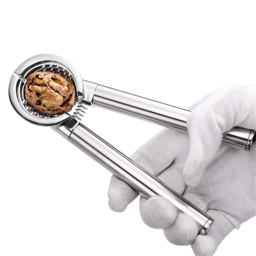 Walnut Cracker with Walnut Needle, Kitchen Nutcrackers Tool, Made of Zinc Alloy Pecan Cracker, for All Nuts by WLIXZ