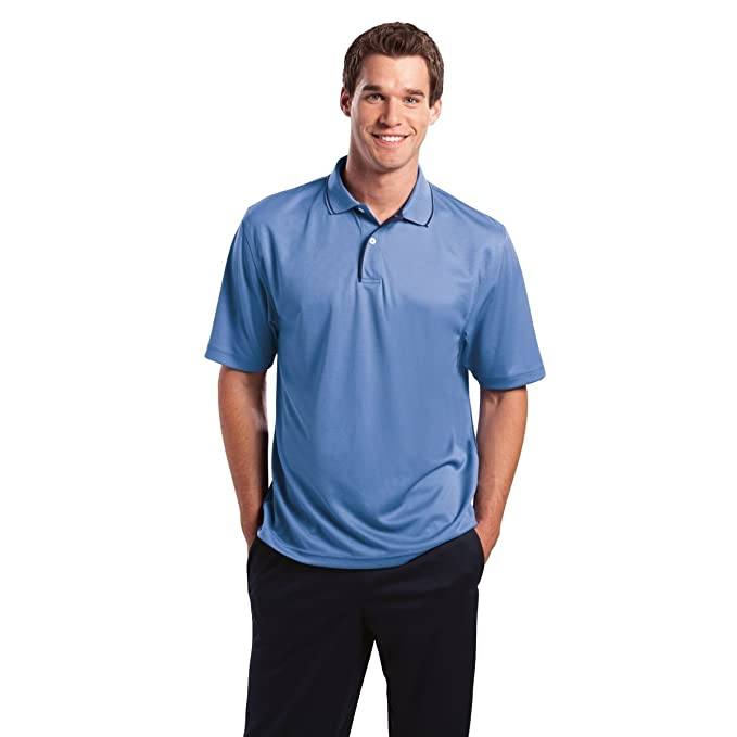 4cc4ebc0af Image Unavailable. Image not available for. Color  Sport-Tek Dri-Mesh Sport  Shirt with Tipped Collar and Piping