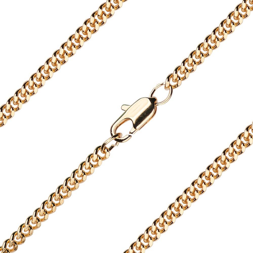 Bonyak Jewelry 24 inch Gold Plate Heavy Curb Chain