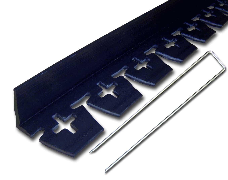 リサイクルエッジングブロック見切 高45mm×2m×3本、アンカーピン10本 B00BKVSZBY
