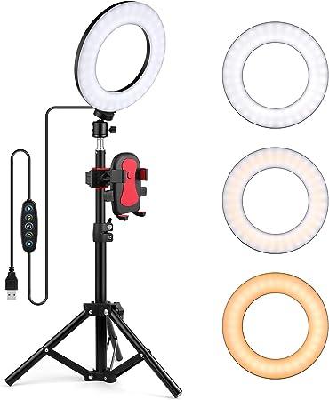 Oldshark 15 2 Cm Selfie Ringlicht Mit Stativ Und Kamera