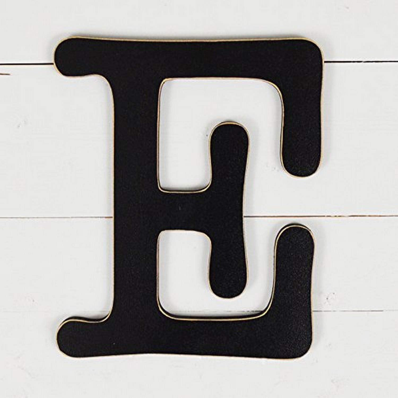 """UNFINISHEDWOODCO 300564 Typewriter Wall Decor Letter E, 11.5"""", Black"""