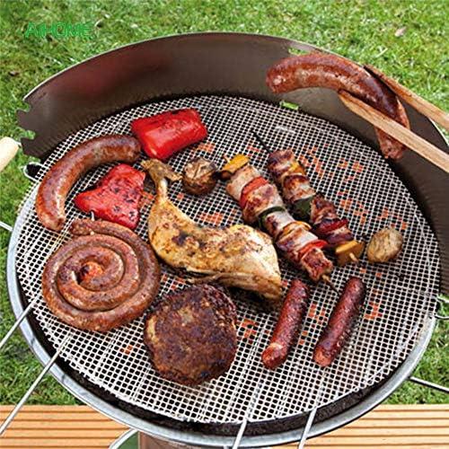 Tapis de cuisson anti-adhésif pour barbecue réutilisable et grille de cuisson fonctionne sur les feuilles de grill électriques à gaz 36 * 42 * 0.085CM Noir