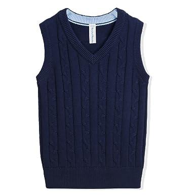 Amazon Benito Benita Boys Sweater Vest School V Neck