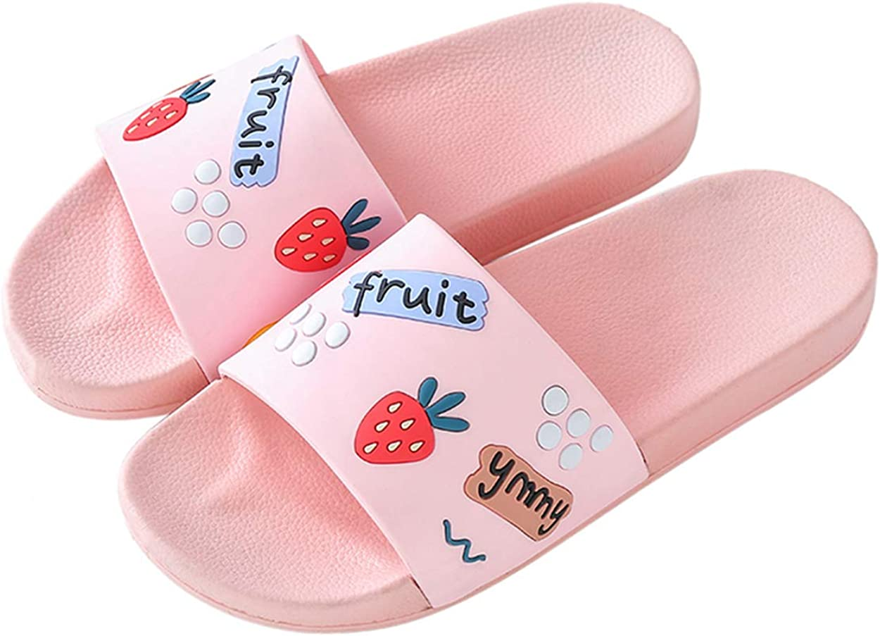 XINBONG Slide Sandals for Boys Girls Fashion Outdoor Pool Swimming Indoor Home Bath Shower Slippers