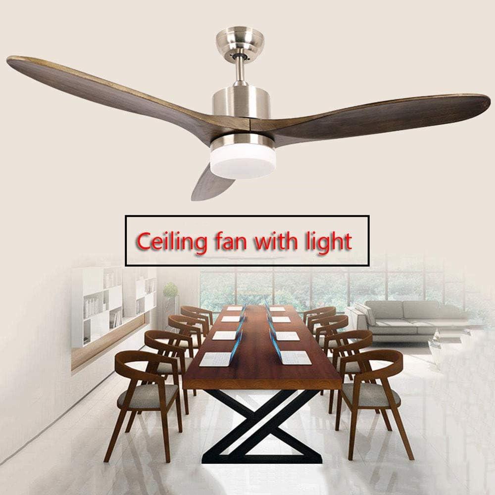 CYGG Ventilador De Techo Industrial Exterior De 3 Palas,luz Led ...