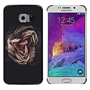 Caucho caso de Shell duro de la cubierta de accesorios de protección BY RAYDREAMMM - Samsung Galaxy S6 EDGE SM-G925 - Pink Flower Petal Floral
