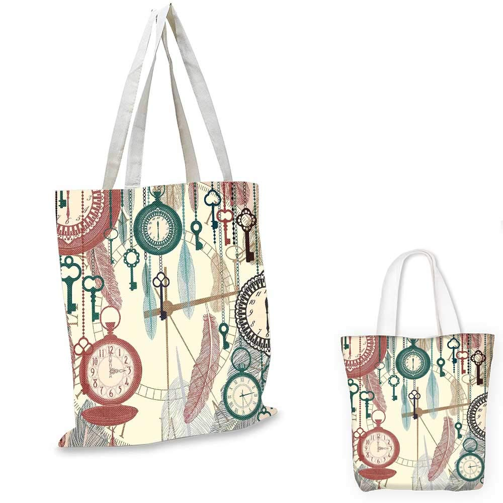 Antique canvas messenger bag Grungy Effect Cherry Blossoms on Ribbed Bamboo Retro Background Floral Art Work shopping bag for women Pink Beige 12x15-10