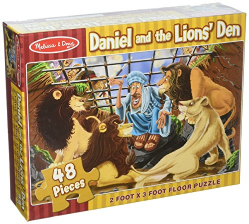 Melissa & Doug Daniel and the Lion's Den Floor Puzzle (Easy-Clean Surface, Promotes Hand-Eye Coordination, 48 Pieces, 24