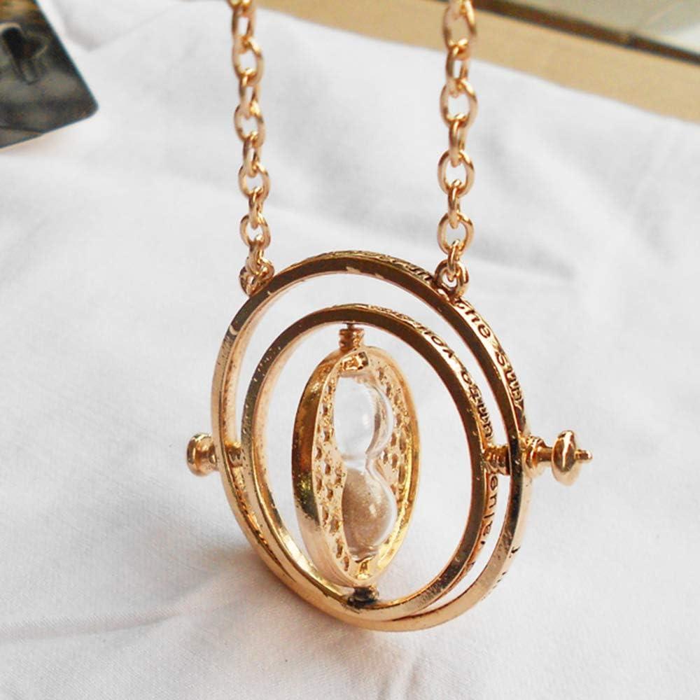 Ogquaton Collar Colgante de Reloj de Arena Giratorio Harry Potter ...